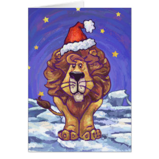 Cute Lion Holiday Card