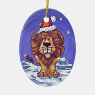 Cute Lion Holiday Christmas Ornaments