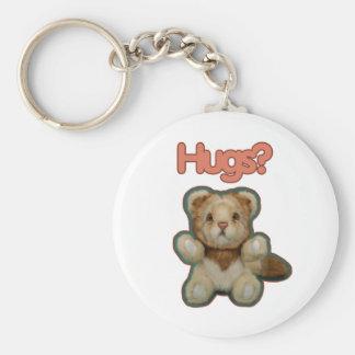 Cute Lion Hugs Keychains