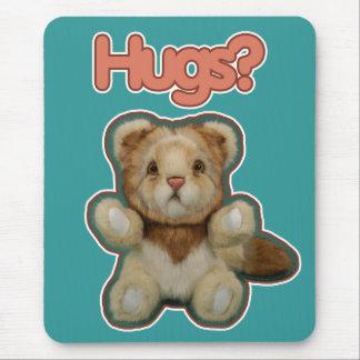 Cute Lion Hugs Mouse Pad