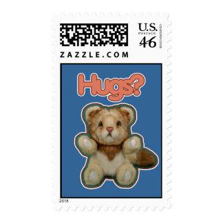 Cute Lion Hugs Stamp