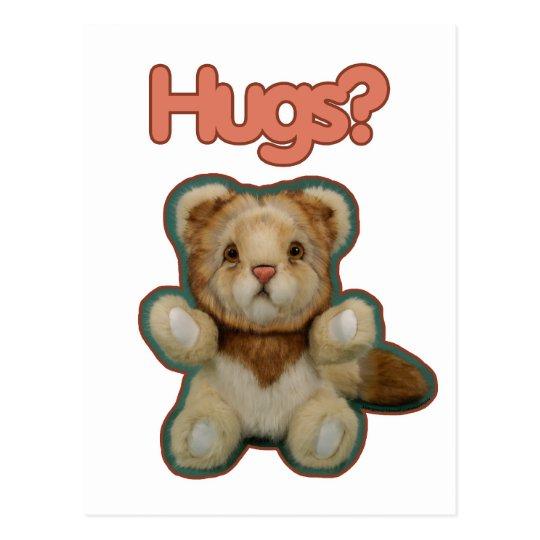 Cute Lion Hugs Postcard