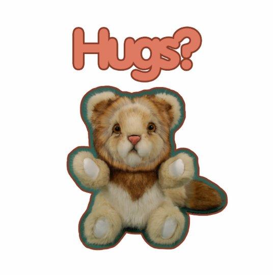 Cute Lion Hugs Statuette