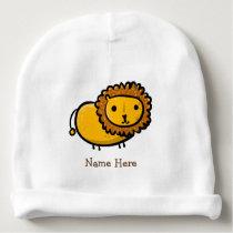 Cute lion illustration baby beanie
