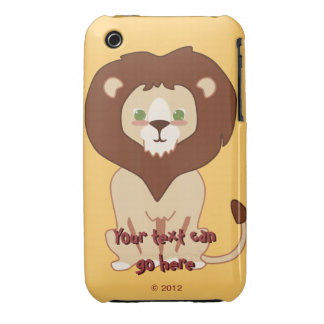 Cute Lion iPhone 3 Case