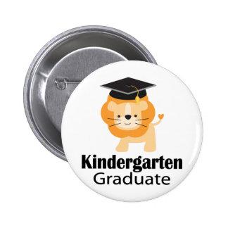 Cute Lion Kindergarten Graduation Gift Pinback Buttons