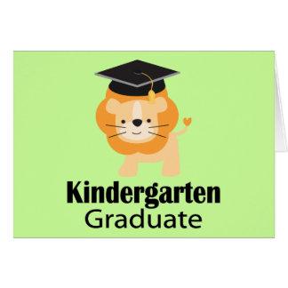 Cute Lion Kindergarten Graduation Gift Card