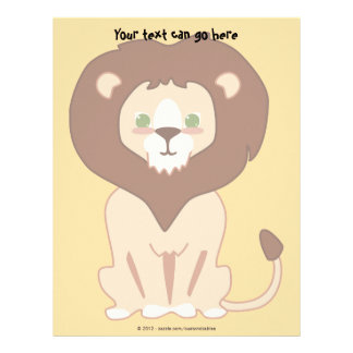 Cute Lion Letterhead