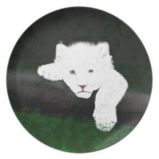 cute lion melamine plate