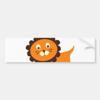 Cute Lion on Green Pattern Gifts for Kids Bumper Sticker