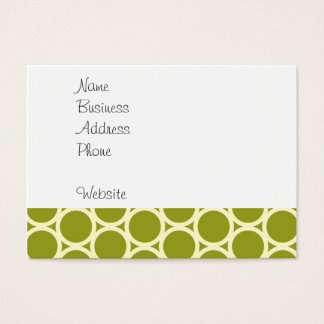 Cute Lion on Green Pattern Gifts for Kids Business Card