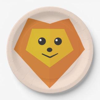 Cute Lion Paper Plate