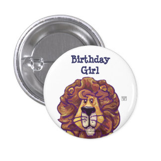 Cute Lion Party Center Birthday Girl Pins