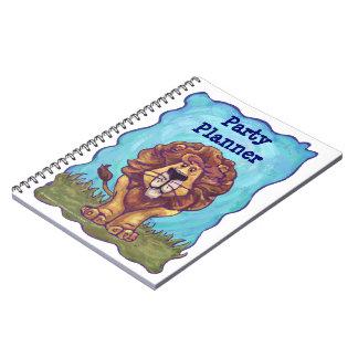 Cute Lion Party Plannner Notebook
