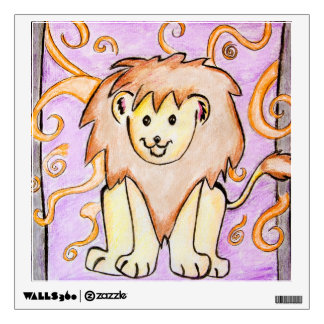 Cute Lion Pencil Drawing Wall Decal