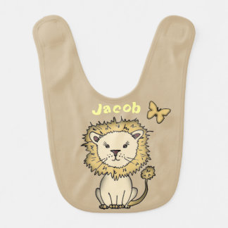 Cute Lion Personalized Baby Bib