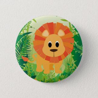 Cute Lion Pinback Button