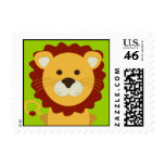 Cute Lion Postage Stamp