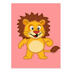Postcard with Cute Lion design