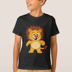 Kids' Hanes TAGLESS® T-Shirt with Cute Lion design