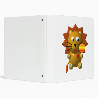 Cute lion with lollipop! 3 ring binder