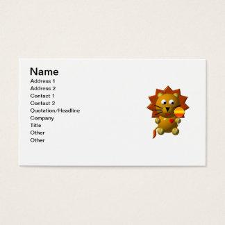 Cute lion with lollipop! business card