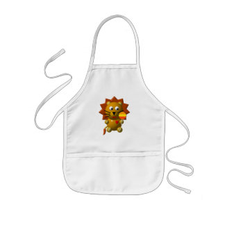 Cute lion with lollipop! kids' apron