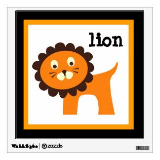 Cute Lion Zoo Animals Nursery Kids Wall Decal