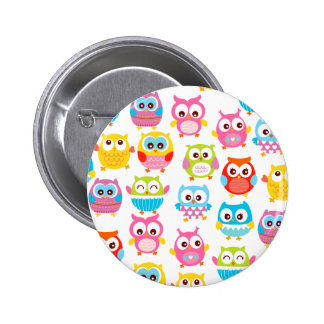 Cute Litte Owls Buttons