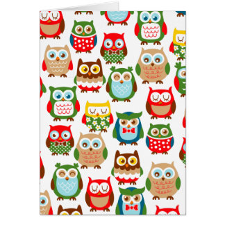 Cute Litte Owls Greeting Card