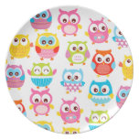 Cute Litte Owls Dinner Plates