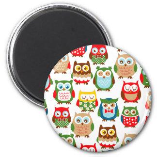 Cute Litte Owls Fridge Magnet