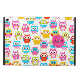 Cute Litte Owls Monogrammed iPad Air Case