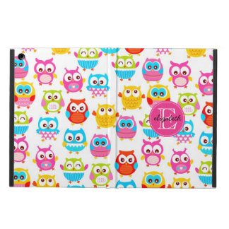 Cute Litte Owls Monogrammed iPad Air Case
