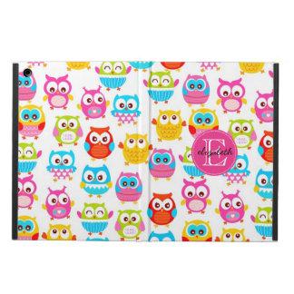 Cute Litte Owls Monogrammed iPad Air Cases