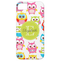 Cute Litte Owls Monogrammed iPhone SE/5/5s Case