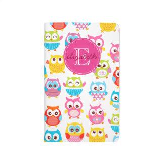 Cute Litte Owls Monogrammed Journal