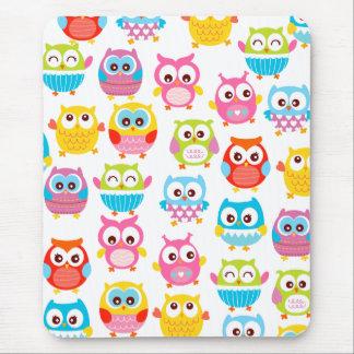 Cute Litte Owls Mouse Pad