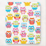 Cute Litte Owls Mouse Pads