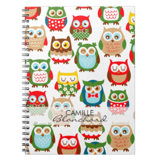 Cute Litte Owls Personalized Notebooks