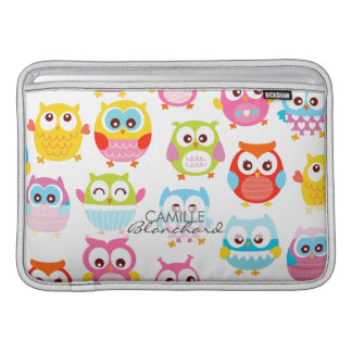 Cute Litte Owls Personalized Sleeve For MacBook Air