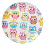Cute Litte Owls Plates