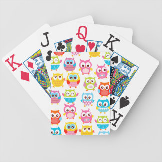 Cute Litte Owls Bicycle Poker Deck