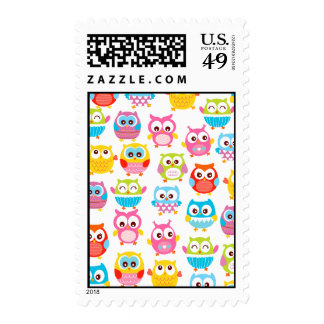 Cute Litte Owls Postage Stamp
