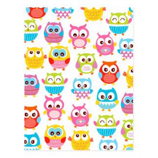 Cute Litte Owls Postcard