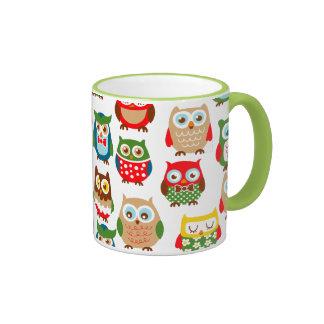 Cute Litte Owls Ringer Mug