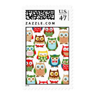 Cute Litte Owls Stamp