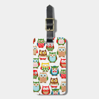 Cute Litte Owls Tag For Luggage