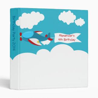 Cute Little Airplane Boy Birthday Photo Album Binder