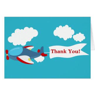 Cute Little Airplane Boy Thank You Card Greeting Card